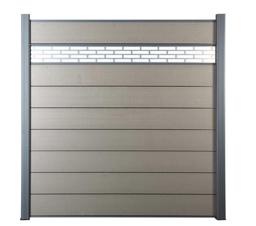 Zástěna základní Silver grey