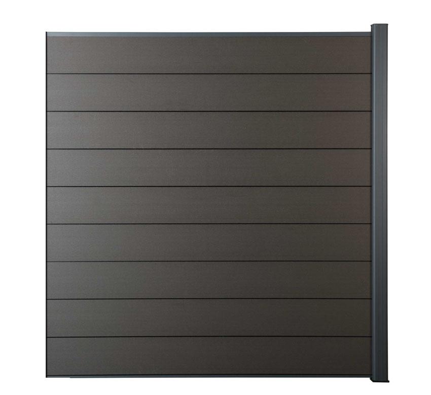 Zástěna rozšiřující Ebony grey