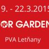 Pozvánka na veletrh FOR GARDEN, 19.-22.3.2015